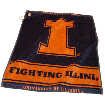Illinois Fighting Illini NCAA Woven Golf Towel