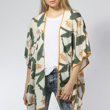 Birds of Paradise Poncho