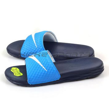 Nike Benassi Solarsoft Photo Blue/White-Binary Blue Sandals Slippers 705474-402