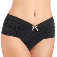Just as Sweet Undies in Noir | Mod Retro Vintage Underwear | ModCloth.com