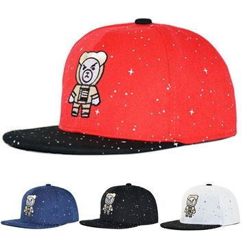 Trendy Winter Jacket Children Cap WESTERN Letters Embroidered Child Baseball Cap Hip Hop Starry Snapback Hats for Boys Girls Summer Cap AT_92_12