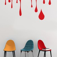 Paint Dripping Wall Decal. Perfect for Kid's room. #695