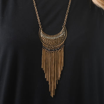 Statement Necklace - Gold