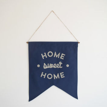 Size X L - HOME SWEET HOME. - Extra Large Wall Banner (customizable!)