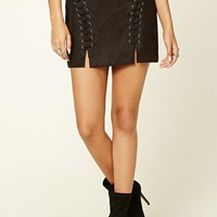 Faux Suede Mini Skirt - Women - Bottoms - 2000236446 - Forever 21 EU English