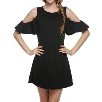 New Woman Butterfly Sleeve Cute Strapless Dress Plus Size Novelty T Shirt Dress