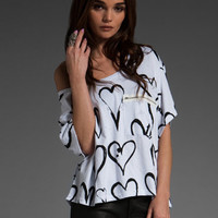 JOYRICH Brushed Heart Box Tee in White at Revolve Clothing - Free Shipping!