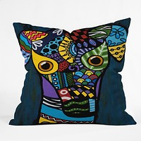 Lara Kulpa Greyhound Throw Pillow