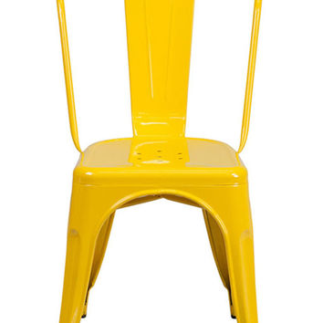 Flash Furniture Yellow Metal Indoor-Outdoor Stackable Chair CH-31230-YL-GG