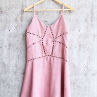 cami corduroy dress - rose