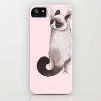 Grumpy Hang iPhone & iPod Case by Tummeow