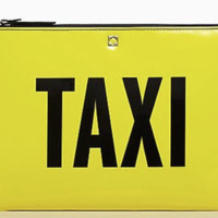 Kate Spade New York Gia Far From The Tree Graffiti Black/Yellow Clutch