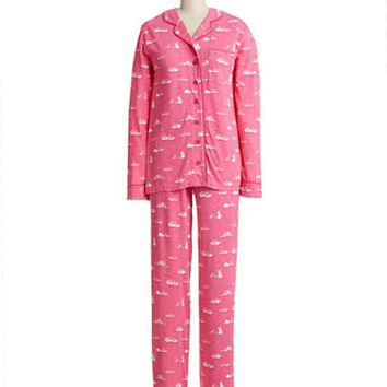 Munki Munki Two Piece Bunny Pajama Set