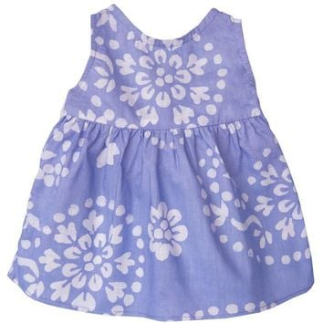 Baby Sundress Violet Paisley - Global Mamas (B)