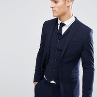 ASOS Super Skinny Fit Suit Jacket In Navy at asos.com