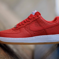 """Nike Air Force 1 LV8 """"Red Python"""" size 10.5"""