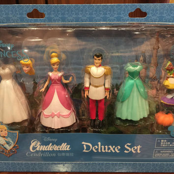 disney parks cinderella and prince charming deluxe cake topper playset new with box