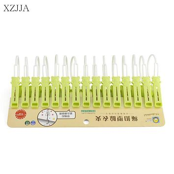 XZJJA 15Pcs/lot Plastic Clothes Pegs Bear Laundry Hanging Clothes Pins Clips Household Clothespins Socks Underwear Drying Rack