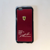Ferrari custom iPhone cases with the dancing horse logo