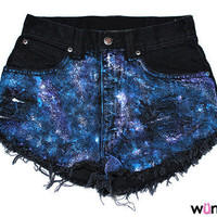 Milky Way High-Waisted Shorts