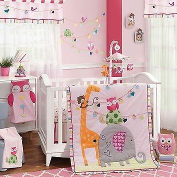 Lambs & Ivy Sprinkles 5 Piece Baby Nursery Crib Bedding Set with Bumper NEW