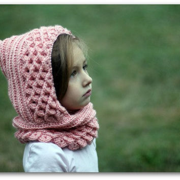 Crocodile Stitch Hood 2 sizes Toddler and Child by bonitapatterns