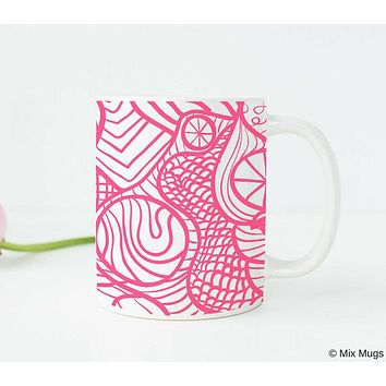 Pink Office Supplies Pink Office Decor Pink Mug Pink Desk Accessories Pink Kitchen Decor Dinnerware