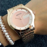 ONETOW GUCCI classic men and women fashion watch F-Fushida-8899  Rose gold