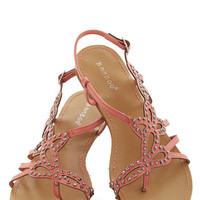 ModCloth That Girly Glimmer Sandal in Pink
