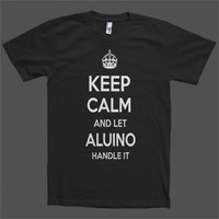 Keep Calm and let Aluino Handle it Personalized Name T-Shirt