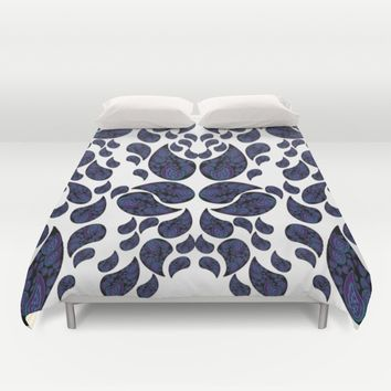 Paisley purple and teal Duvet Cover by VanessaGF | Society6