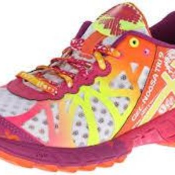 Asics Womens Gel Noosa Tri 9 ~ Running Shoes ~ White-Yellow-Plum