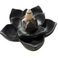 Lotus petal incense burner