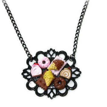CHOCOLATE LOVERS Necklace by DeathwishDesign on Etsy