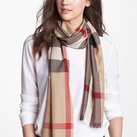 Women's Burberry Check Scarf