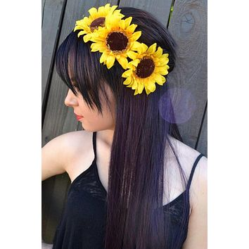 Side Sunflower Headband #C1022