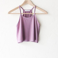 Crop Tank Top - Rose