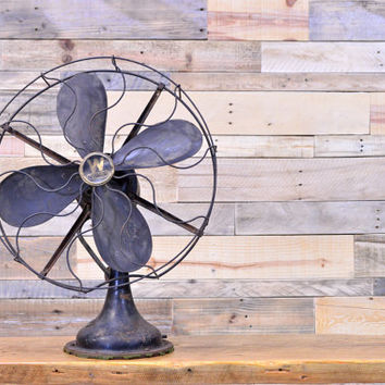 LARGE Vintage Westinghouse Electric Fan, 1917 Industrial Westinghouse Desk Fan