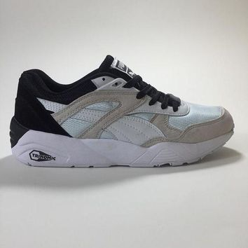 DCCKIJ2 Puma R698 AIIover Suede Running Sport Casual Shoes Sneaker Grey Blue