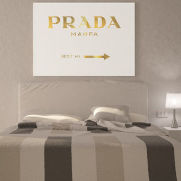 Prada Marfa Canvas Gossip Girl Gold Oversized canvas art print poster