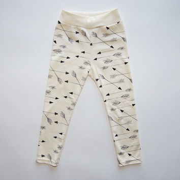 Arrows Organic Hand Printed Baby Leggings