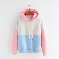 Fashion hooded fleece jacket