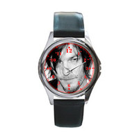 Norman Reedus Black Leather Watch Wristwatch Unisex