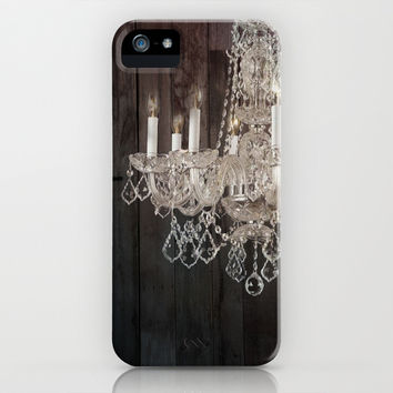 rustic nature barn wood western country shabby chic chandelier art iPhone & iPod Case by Chicelegantboutique