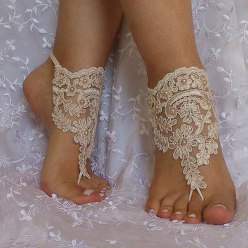 b170a00417635 Champagne Free Ship Barefoot Sandals beach shoes