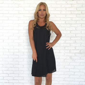 My Only Love Shift Dress In Black
