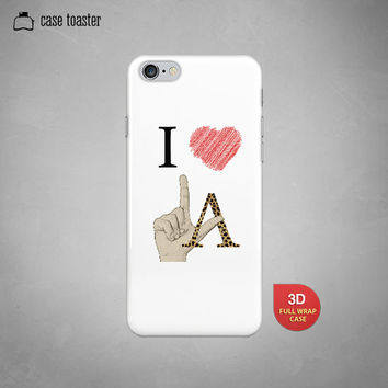 "I heart Los Angeles hand sign - iphone 6 case (4.7""), iphone 6 plus case (5.5""), iphone 5C case, iphone 5S case, iphone 4S case"
