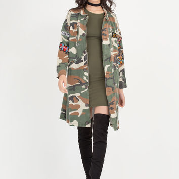 Patch Maker Camo Longline Jacket