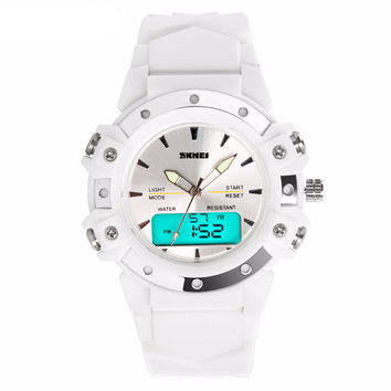 Casual Wristwatches Digital & Analog Multifunction Quartz Watch 30m Waterproof Student Sports Watches for Women Men