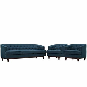 Coast Living Room Set Set of 3, Azure